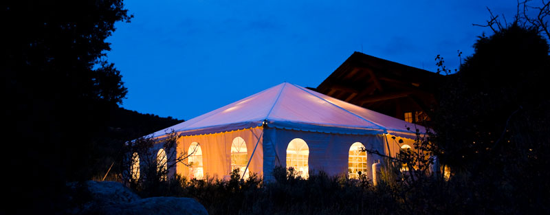 Evening party tent